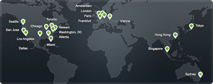 cloudfare network of datacenters