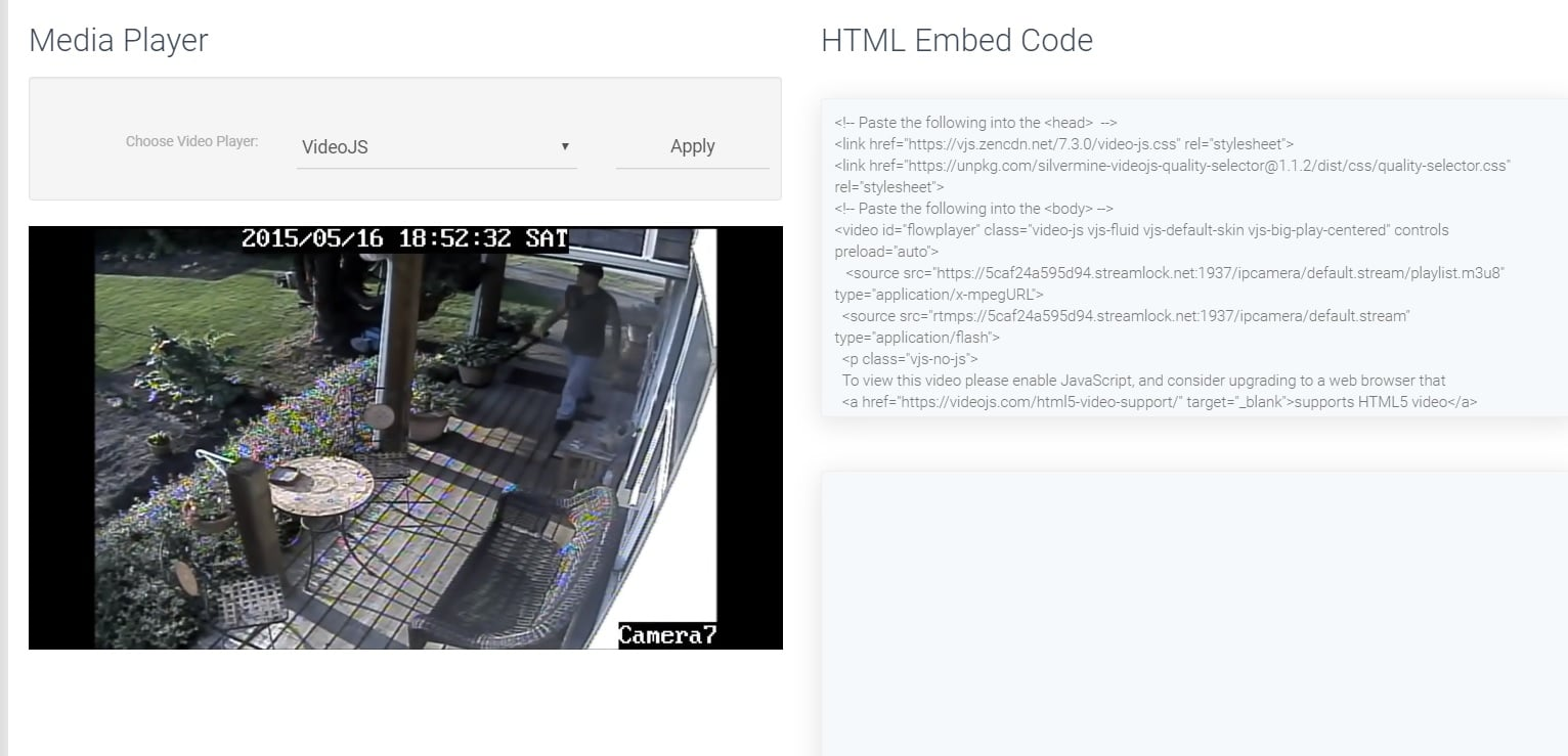 copy and paste the html5 player to your site